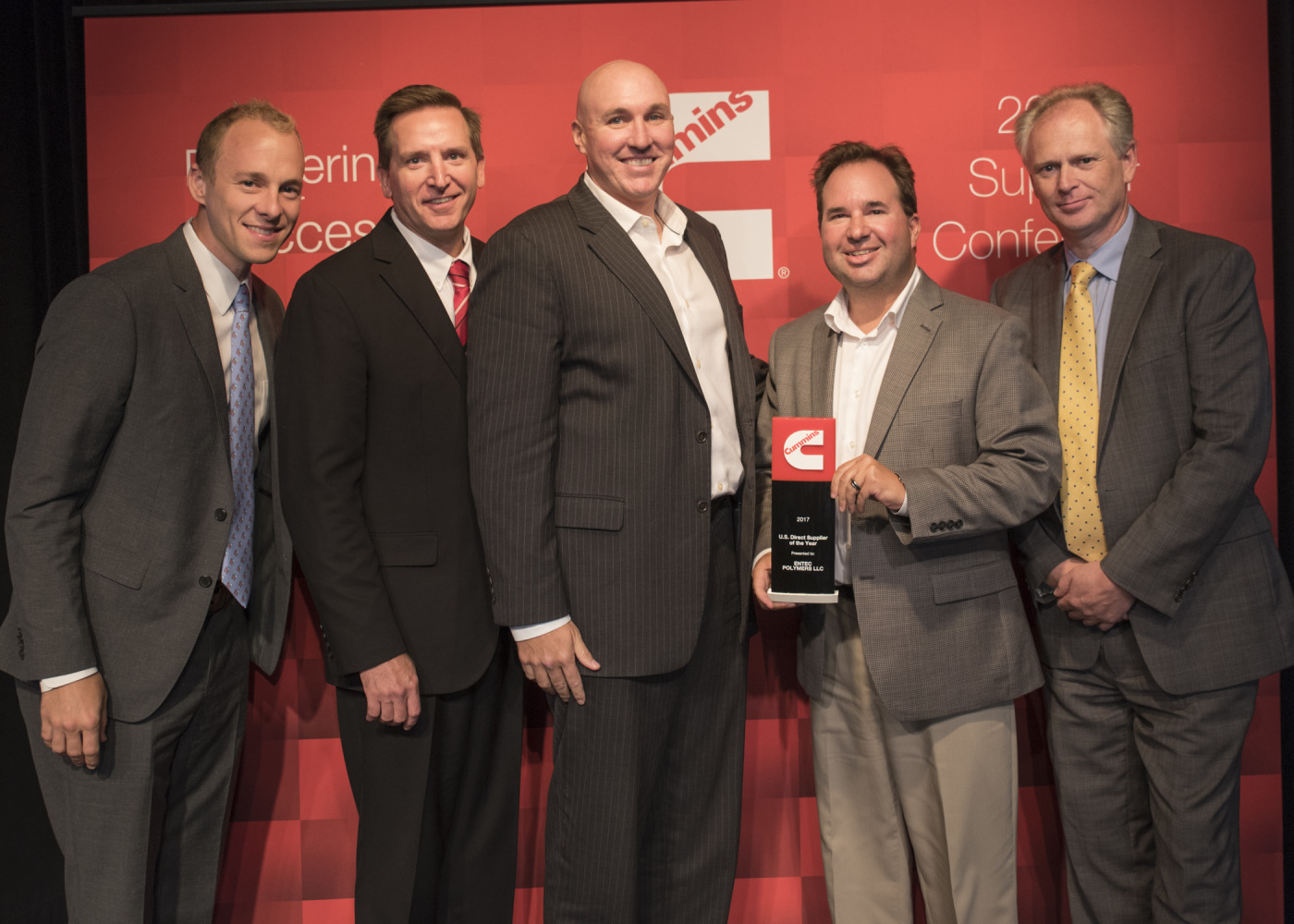 Entec Polymers Honored as Cummins Supplier of the Year