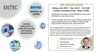 MD&M West - Brunch & Learn: Material Approaches to Avoid ESCR Failures from Medical Disinfectants