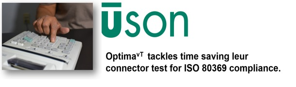 Optima<sup>vT</sup> Tackles Time Saving Leur Connector Test for ISO 80369 Compliance.