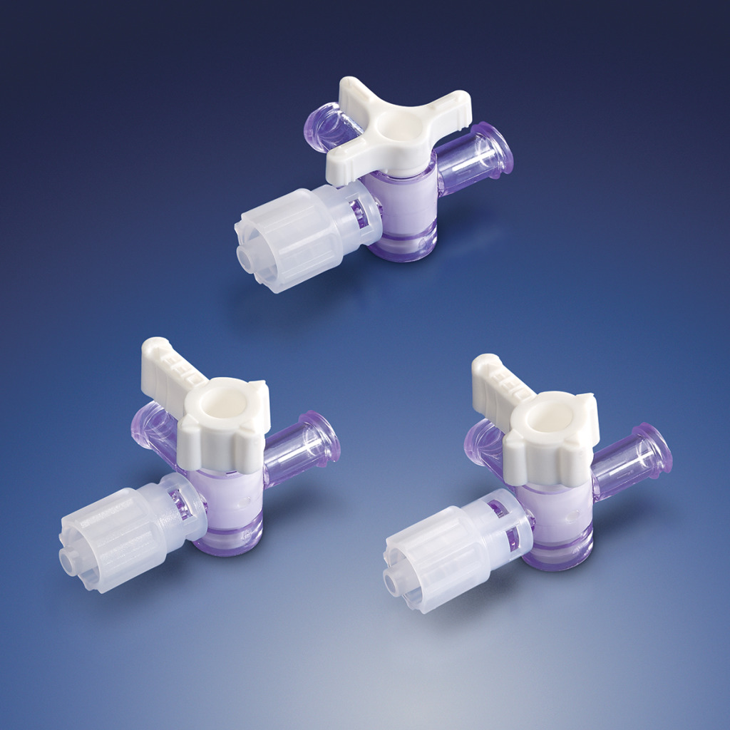 New Low Pressure Stopcocks With Rotating Male Luer Lock