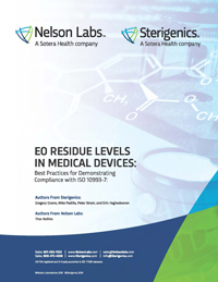 EO Residue Levels in Medical Devices