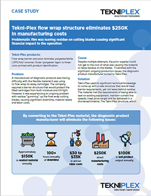 Case Study: Tekni-Plex Flow Wrap Structure Eliminates $250K in Manufacturing Costs