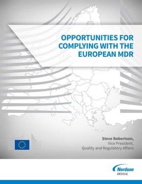 Opportunities for Complying with the European MDR