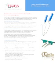 Instruments and Implants for Orthopaedic and Spine
