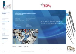Tegra Medical Corporate Overview