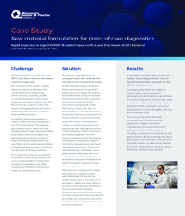 Case Study - New Material Formulation for Point-of-Care Diagnostics