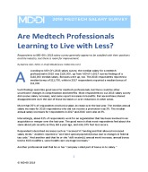 Medtech Salary Survey 2018