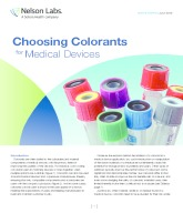 Choosing Colorants for Medical Devices